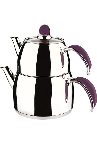 Remetta Sapore Aşiret Boy Çelik Çaydanlık