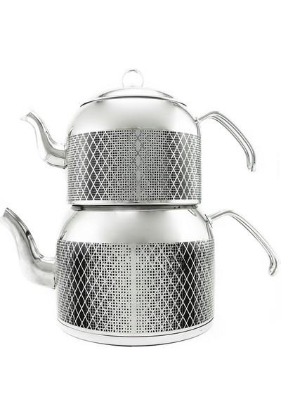 Remetta Mondo Aile Boy Çelik Çaydanlık