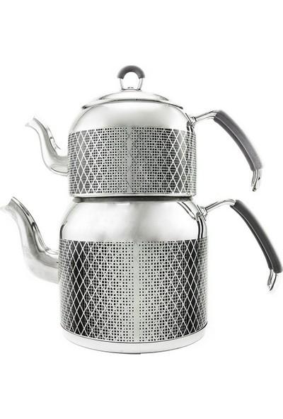 Remetta Mondo Maxi Boy Çelik Çaydanlık