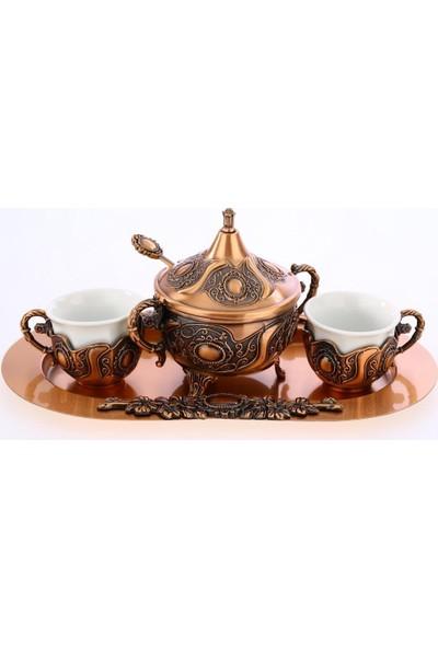 MCA Armalı Porselenli Kahve Seti
