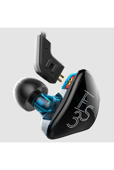 Kz Es3 Dynamic Hybrid Dual Driver Kulak İçi Kulaklık - Mavi