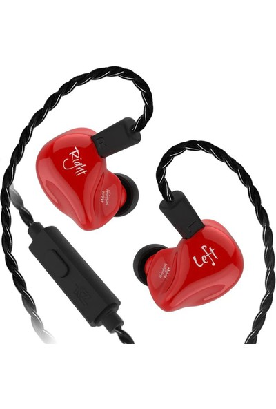Kz Zs4 Ba + Dd Driver Bass Kulak İçi Kulaklık - Kırmızı
