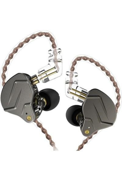 Kz Zsn Ba + Dd Driver Bass Metal Kulak İçi Kulaklık - Kahverengi