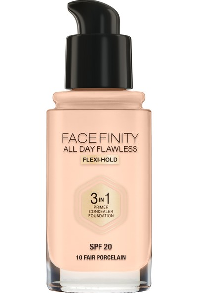 Max Factor Facefınıty All Day Flawless Flexı-Hold 3 In 1 Kalıcı Fondöten 10 Faır Porcelaın
