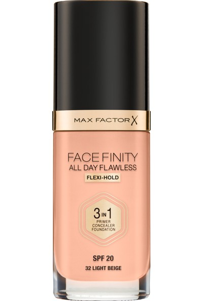 Max Factor Facefınıty All Day Flawless Flexı-Hold 3 In 1 Kalıcı Fondöten 32 Lıght Beıge