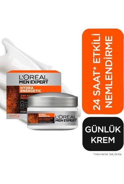 L'Oréal Paris Men Expert Hydra Energetıc 24H 24 Saat Nemlendirici Krem 50 Ml