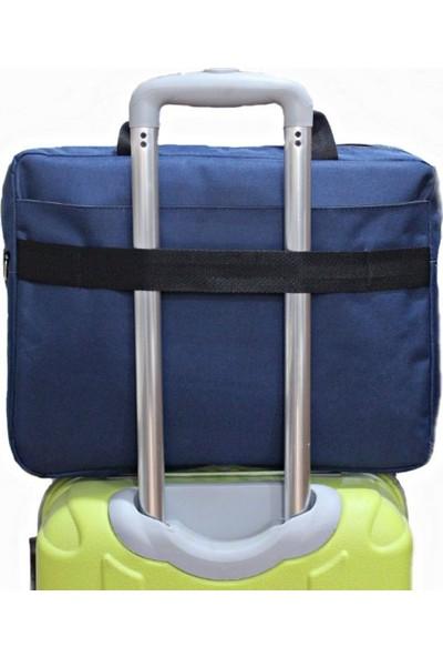 Tkz Tk-683 Su Geçirmez Çift Bölmeli Valiz Taşıma Aparatlı Notebook Çantası - Lacivert