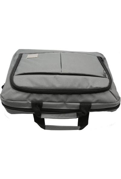 Tkz Tk-683 Su Geçirmez Çift Bölmeli Valiz Taşıma Aparatlı Notebook Çantası - Gri