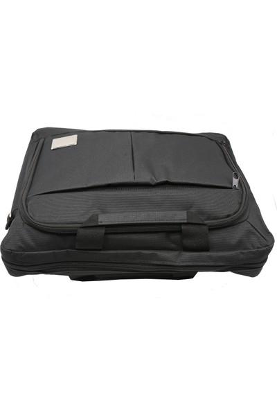 Tkz Tk-683 Su Geçirmez Çift Bölmeli Valiz Taşıma Aparatlı Notebook Çantası - Siyah