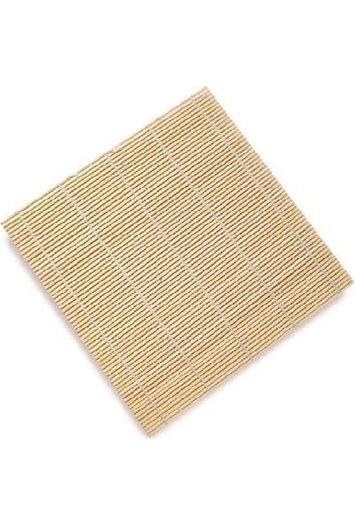 Shandong Bambu Mat Sushı Sarma Hasırı Beyaz 27 x 27 cm