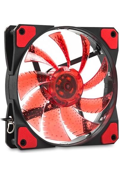 Evercool 120*120*25MM Kırmızı Işıklı Kasa Fan