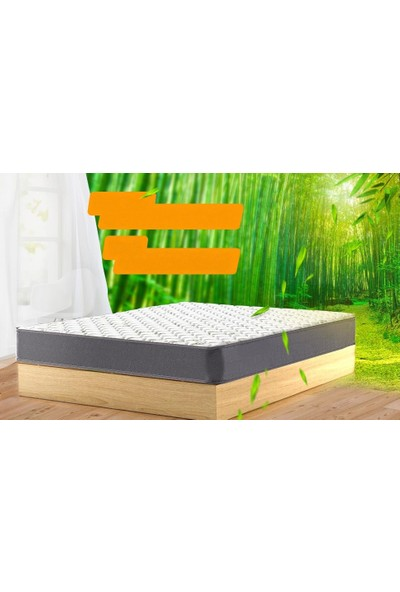 Heyner Hybird Bamboo Kumaş Yaylı Yatak Lüx Soft Yaylı Yatak 70X160 cm