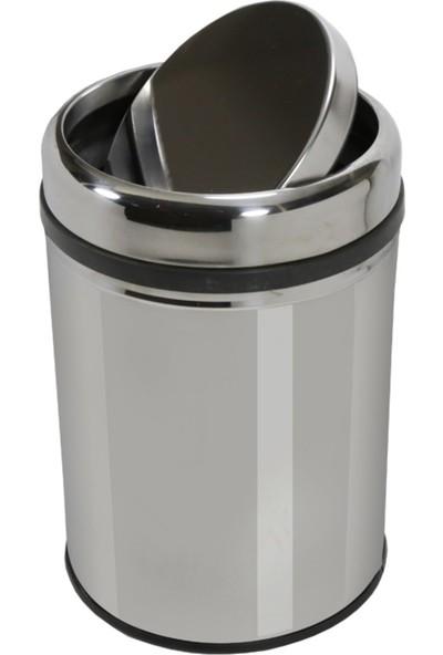 Peronline Nrlx Paslanmaz Pratik Kapak Çöp Kovası 12 lt
