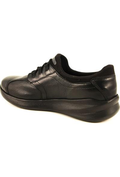 Forelli 54501 Kadın Siyah Deri Ayakkabı