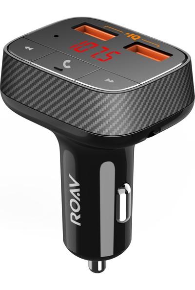Anker Roav Smartcharge F0 Hızlı Araç Şarj Aleti ve Bluetooth FM Transmitter - PowerIQ - R5113