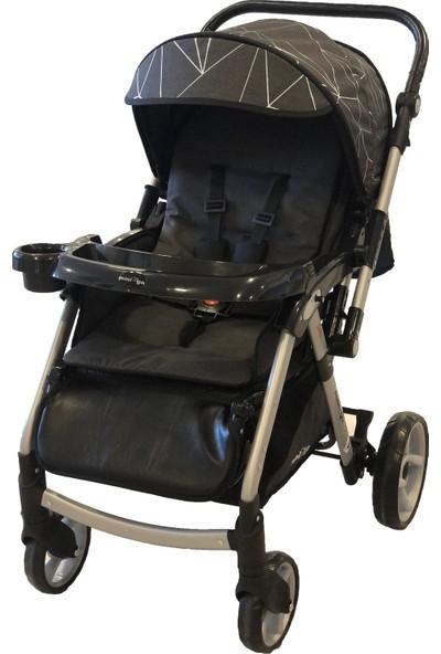Minigo Rocket Çift Yönlü Bebek Arabası - Siyah