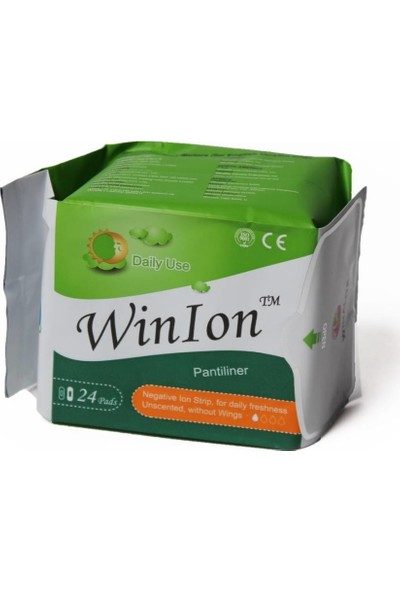 Winion Winalite Negatif Iyonlu Anion Ped. - Günlük Ped Yeşil