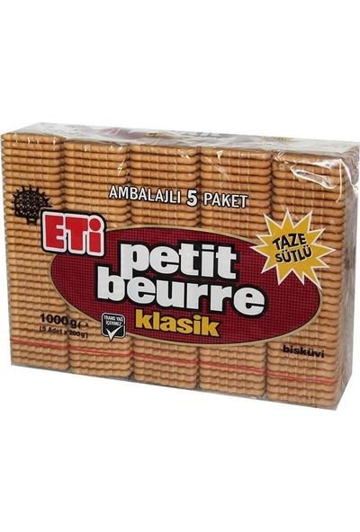 Eti Petit Beurre Bisküvi 1 kg x 5'li Paket