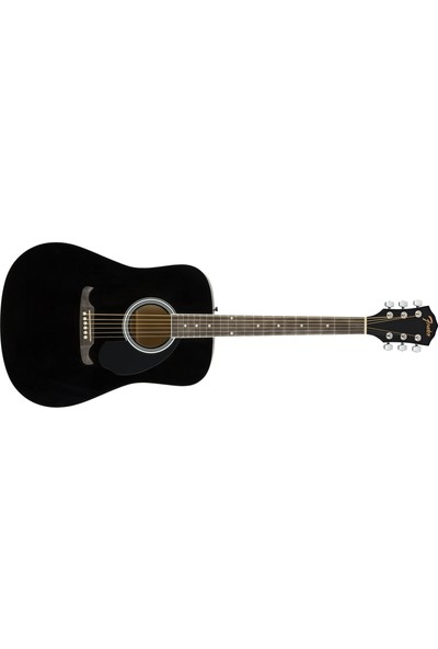 Fender FA-125 Dreadnought Black Akustik Gitar