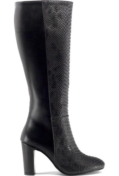 Eşle 9K-6304 Kadın Topuklu Çizme Siyah