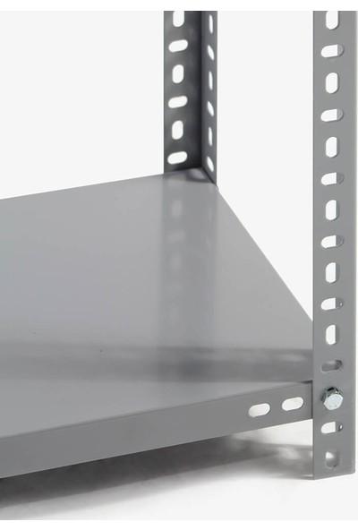 Rafburada 5 Katlı Duble Galvaniz Çelik Raf