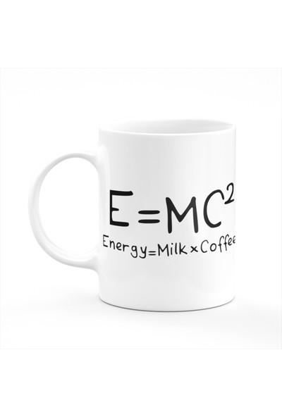 Cupgel Emc2 - Einstein Coffee Formül Baskılı Kupa Bardak