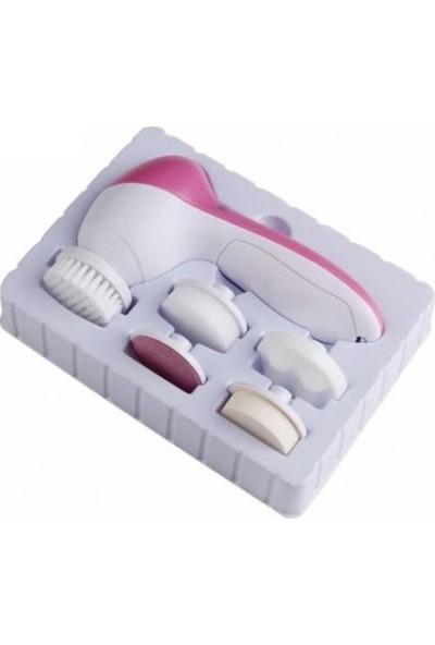 Beauty Yüz Temizleme,masaj ve Peeling Fırça Seti 5 In 1 Pilli