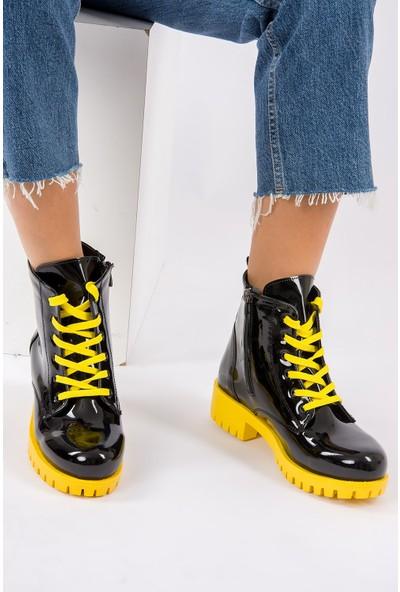 Fox Shoes SiyahSarı Kadın Bot G652072308