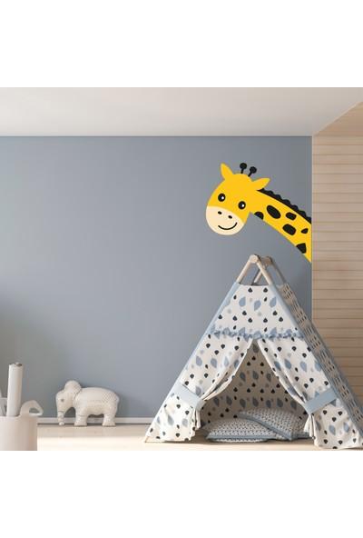 Sim Tasarım Zürafa Kafa Duvar Stickerı