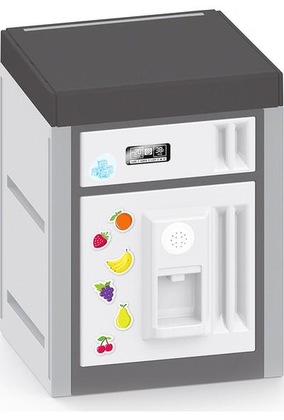 Dolu Sesli Aksesuarlı Siyah Buzdolabı