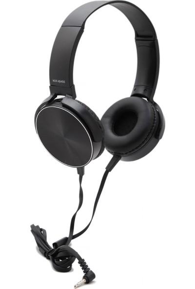 Fark Burada MDR-XB450AP Extra Bass Mikrofonlu Kulaklık - Siyah