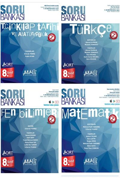 Analiz Yayınları 8. Sınıf Tüm Dersler Aort Soru Bankaları Seti 4 Kitap