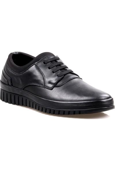 James Franco 4187 Ortapedik Siyah Günlük Erkek Deri Ayakkabı