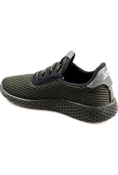 Scor-X Erkek Çocuk Haki Spor Ayakkabı