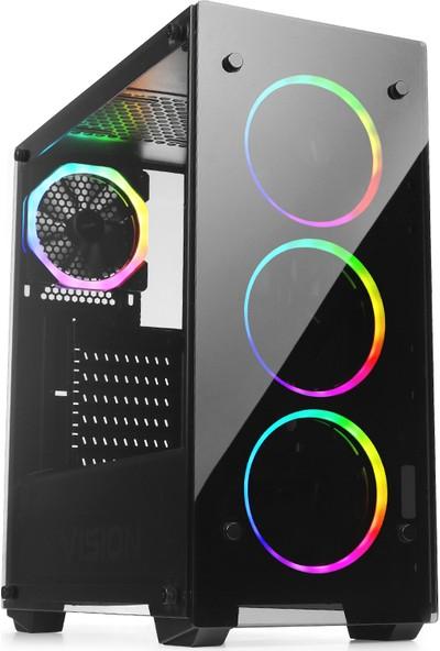 Teknobiyotik AMD Ryzen 7 2700X 8GB 480GB SSD RX590 Freedos Masaüstü Bilgisayar DK-PC-590X-1