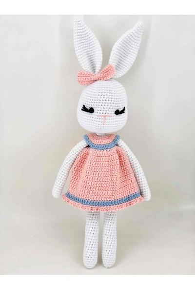 Aysun Yıldız Konbul Amigurumi Organik Örgü Oyuncak Elbiseli Tavşan