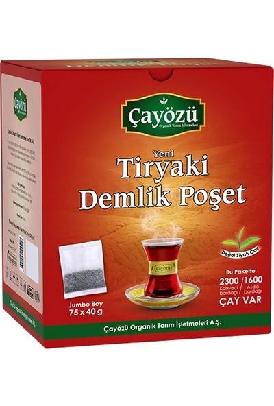 Çayözü Tiryaki Demlik Poşet Siyah Çay 75 x 40 gr