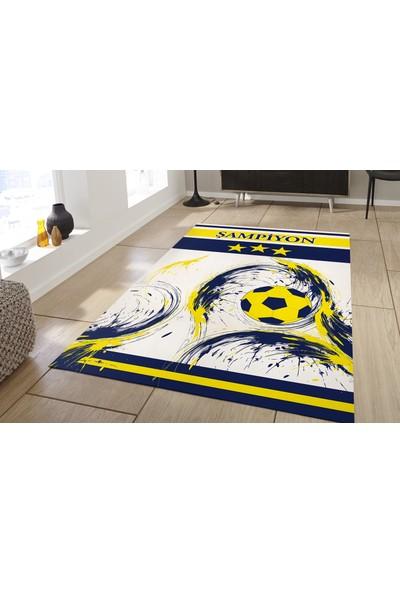 Herms Fenerbahçe(model3)Desenli Kaymaz Taban Çocuk Odası Halısı 70x120