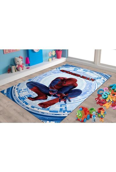 Herms Örümcek Adam Desenli Kaymaz Taban Çocuk Odası Halısı 70x120
