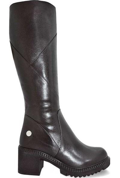 Mammamia D19Kc-2005 Deri Kadın Çizme