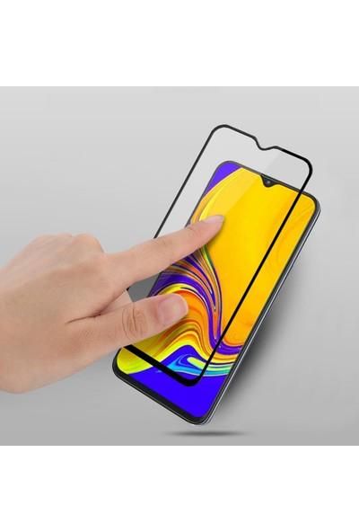 KNY OPPO A9 2020 Kenarı Kırılmaya Dayanıklı Full Yapışan 5D Fiber Nano Ekran Koruyucu Siyah