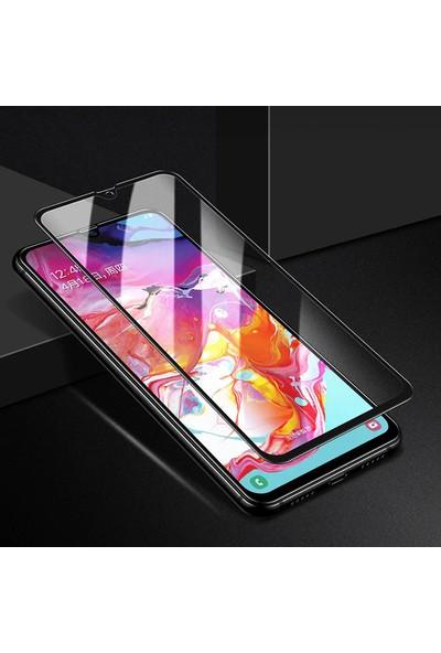 KNY Samsung Galaxy M30S Full Yapışan 5D Fiber Nano Ekran Koruyucu Siyah