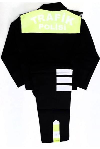 Çocuk Trafik Polisi Kostümü 5-6 Yaş