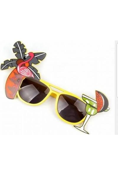 2Mstore Flamingolu Güneş Gözlüğü Sarı