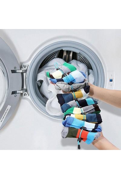 Popseker Çorap Yıkama Kurutma Asma ve Elbise Askı Çoklayıcı Aparat 2 Paket Organik Pamuk
