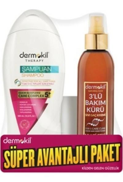 Dermokil Besleyici Şampuan Kil & Keratin & Zeytinyağı + 3'lü Bakım Kürü 400 ml.+200 ml