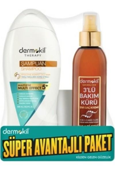 Dermokil Arındırıcı Şampuan Kil & Keratin & Limon + 3'lü Bakım Kürü 400 ML.+200 Ml.
