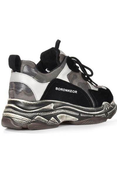 Vizon Ayakkabı Kadın Siyah Spor Ayakkabı VZN19-040K