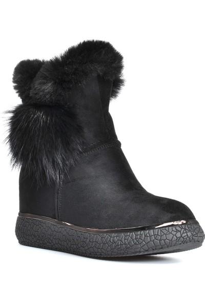 Vizon Ayakkabı Kadın Siyah Bot VZN19-044K