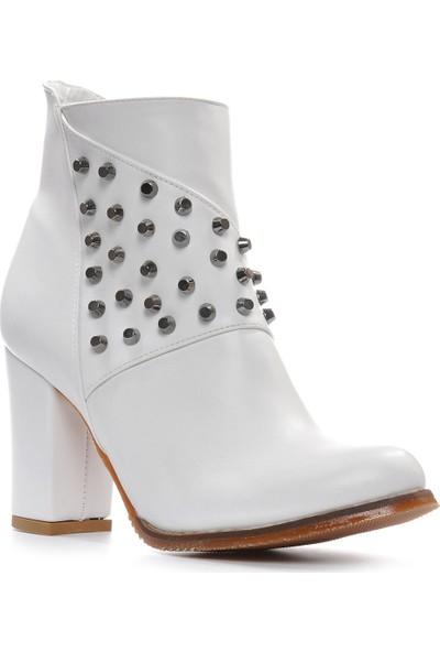 Vizon Ayakkabı Kadın Beyaz Bot VZN19-049K